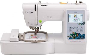 Brother PE535 Embroidery Machine, 80 Built-in Designs, 4x 4 Hoop Area, Large 3.2 LCD Touchscreen, USB Port, 9 Font Styles