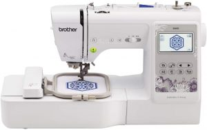Brother SE600 Sewing and Embroidery Machine, 80 Designs, 103 Built-In Stitches, Computerized, 4 x 4 Hoop Area, 3.2 LCD Touchscreen Display